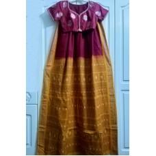 Sambhalpuri cotton saree and silk designer blouse