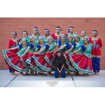 Raas costumes for Columbia University, US