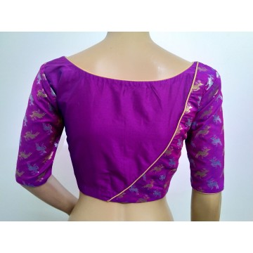 Fuchsia silk designer blouse (size 36, margin to increase to 40)