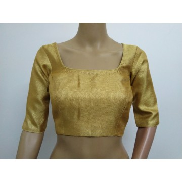 Classic gold blouse with elbow sleeves (size 36, can be extended to size 40)