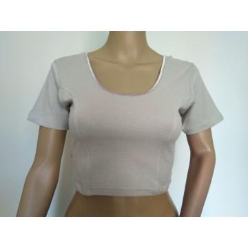 Grey plain stretch blouse (sizes 33-35, 36-38)