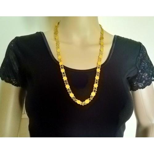 Lightweight gold coins necklace