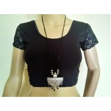 Silver tone tribal necklace - 2
