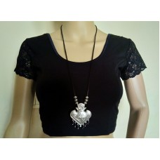 Silver tone tribal necklace - 3