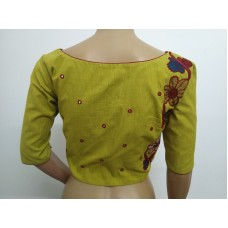 Mehendi hand embroidered designer blouse (size 40, margin to increase to 44)