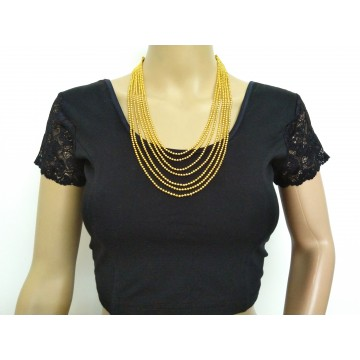 Multistrand gold tone necklace