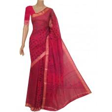 Red Bandhani silk saree